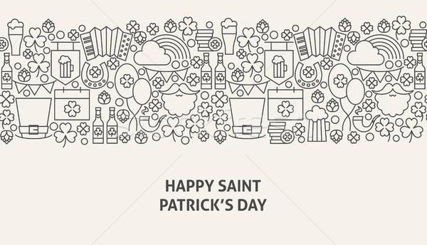 Santo giorno banner line web design design Foto d'archivio © Anna_leni