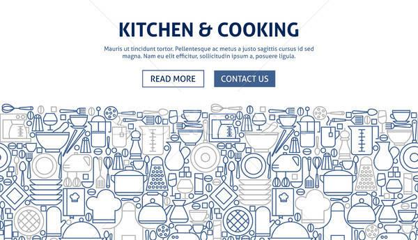 Kitchen Cooking Banner Design Stock photo © Anna_leni
