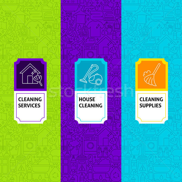 Line Cleaning Package Labels Stock photo © Anna_leni