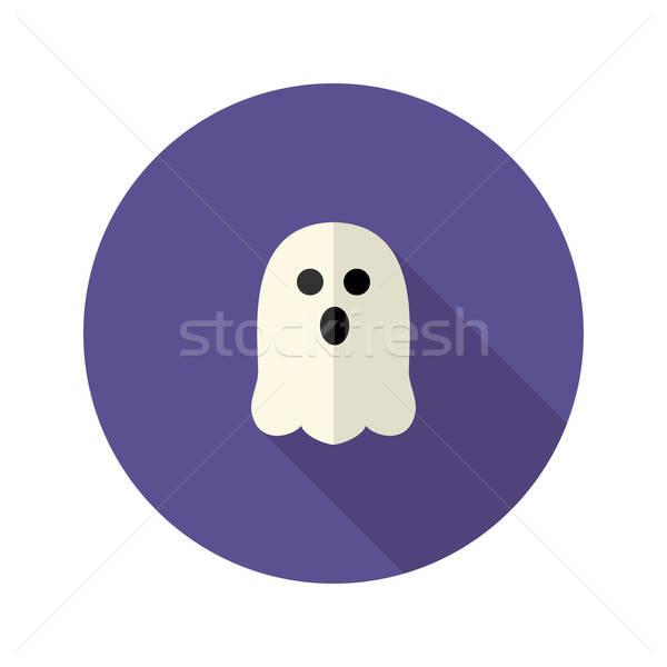 White Scary Ghost Flat Icon Stock photo © Anna_leni