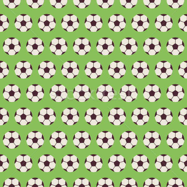 Flat Vector Seamless Sport and Recreation Pattern Soccer Footbal Stock photo © Anna_leni
