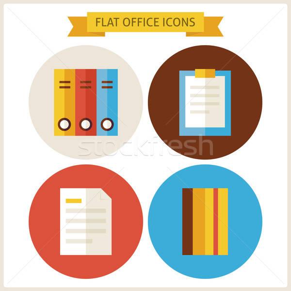 Flat Office Website Icons Set Stock photo © Anna_leni