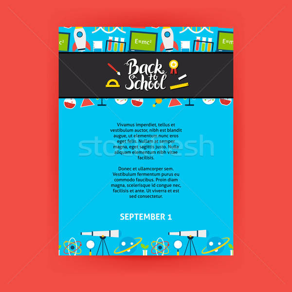 Back to School Poster Template Stock photo © Anna_leni