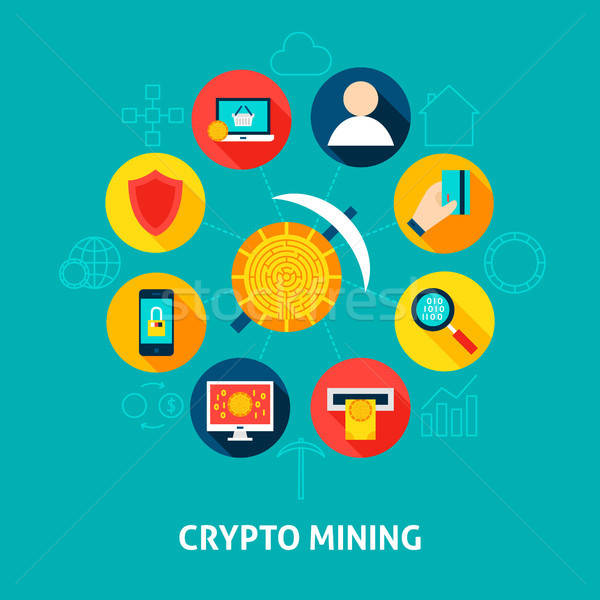 Crypto Mining Concept Stock photo © Anna_leni