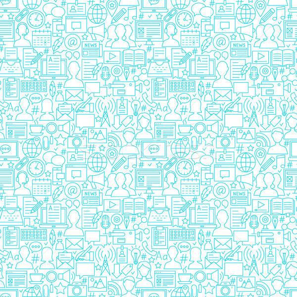 Blog White Line Seamless Pattern Stock photo © Anna_leni