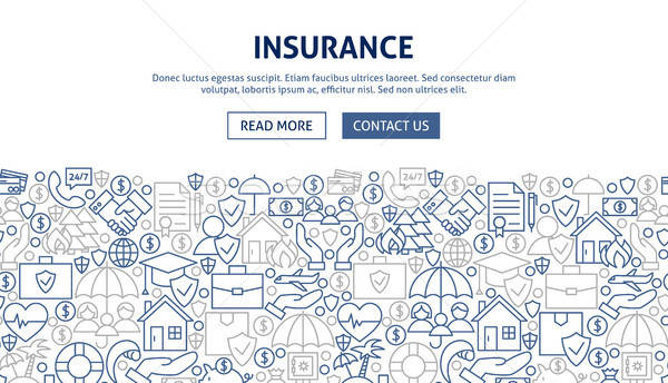 Insurance Banner Design Stock photo © Anna_leni