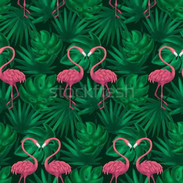 Yaprak örnek yaz doku Stok fotoğraf © Anna_leni