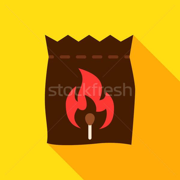 ストックフォト: 袋 · 石炭 · オブジェクト · アイコン · デザイン · 長い