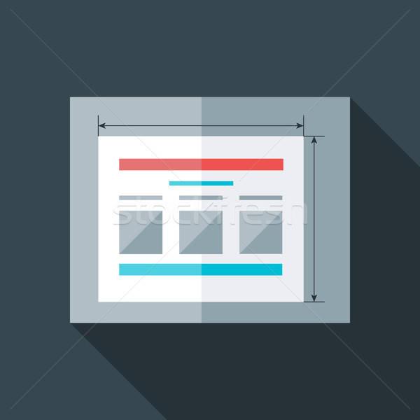 Flat stylized prototyping website Stock photo © Anna_leni