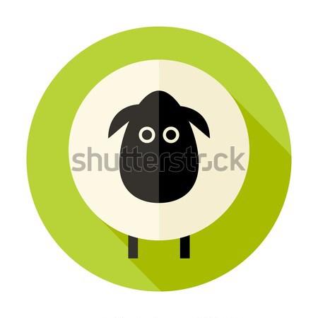 羊 サークル アイコン 緑 実例 中国語 ストックフォト © Anna_leni