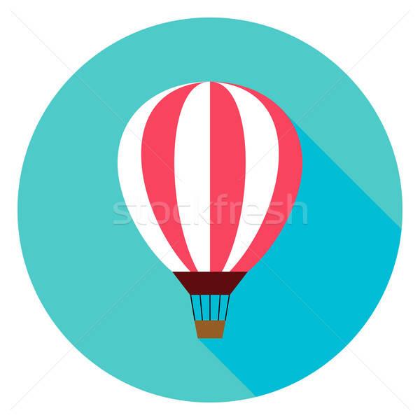 воздушный шар круга икона дизайна долго тень Сток-фото © Anna_leni