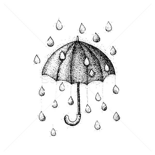 Dotwork Umbrella Rain Stock photo © Anna_leni