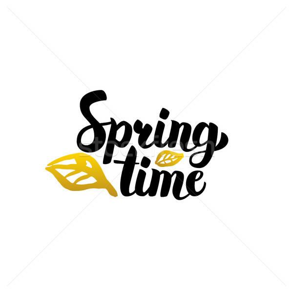 Primavera tempo manoscritto calligrafia natura impianti Foto d'archivio © Anna_leni