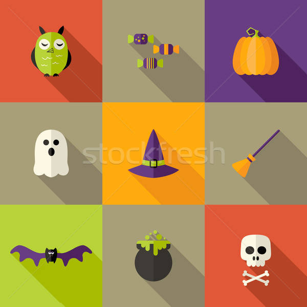 Halloween illustration fête mort morts Photo stock © Anna_leni