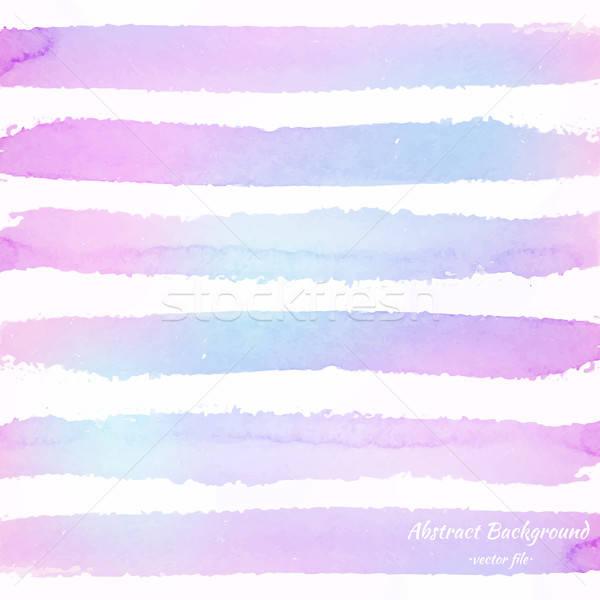 Couleur pour aquarelle couleur vecteur résumé rayé coloré Photo stock © Anna_leni