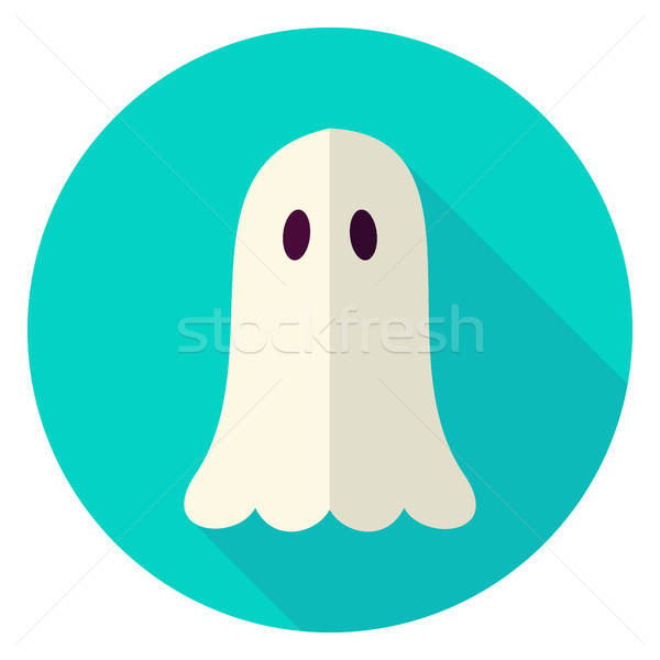 Scary spook cirkel icon ontwerp lang Stockfoto © Anna_leni