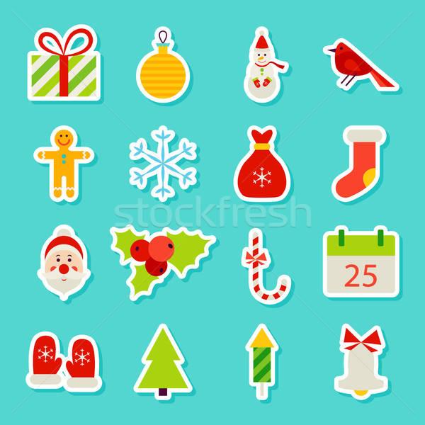 Christmas Holiday Stickers Stock photo © Anna_leni