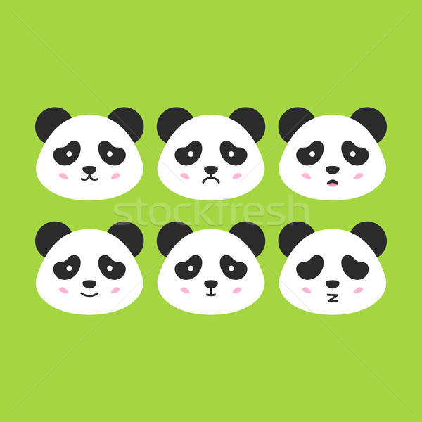 Сток-фото: Panda · лицах · Cute · животного · улыбка