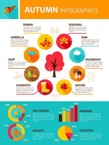 Autumn Season Infographics Stock photo © Anna_leni