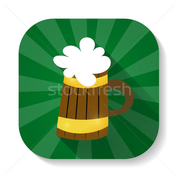 St Patrick Day mug with beer icon Stock photo © Anna_leni