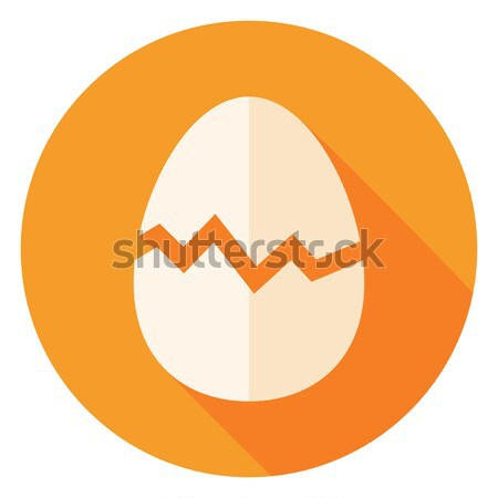 Egg with Broken Eggshell Circle Icon Stock photo © Anna_leni