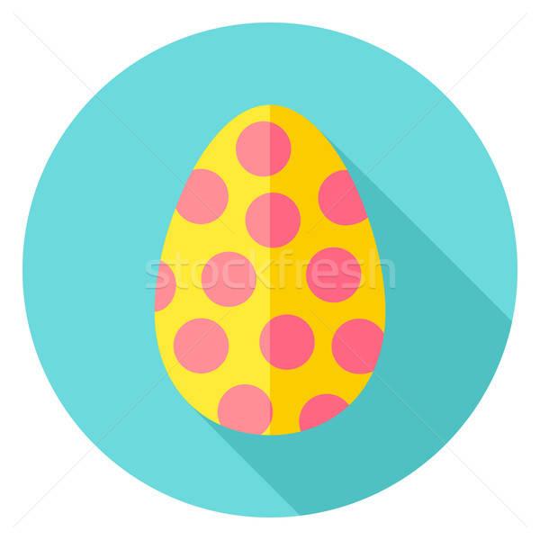 Easter Egg with Circles Decor Circle Icon Stock photo © Anna_leni