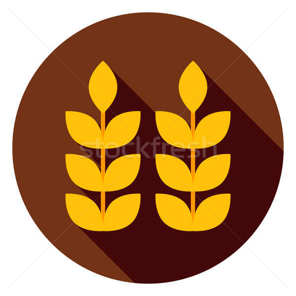Ears of Wheat Circle Icon Stock photo © Anna_leni