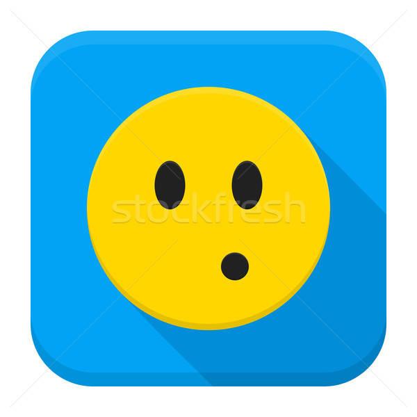 Surprised Yellow Smiley App Icon Stock photo © Anna_leni