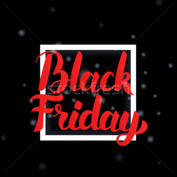 Black Friday Lettering with Frame Stock photo © Anna_leni