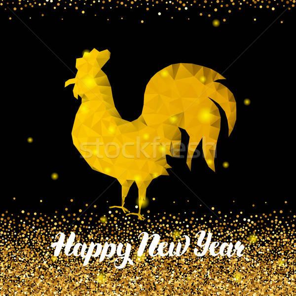Китайский Новый год петух зима праздник зодиак Сток-фото © Anna_leni