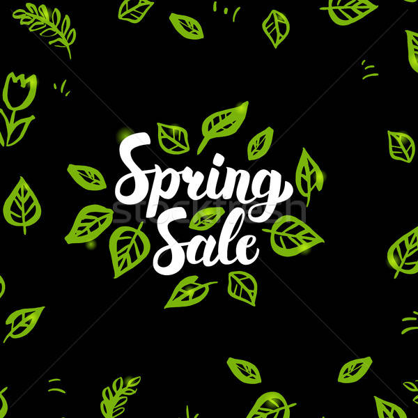Spring Sale Postcard Stock photo © Anna_leni