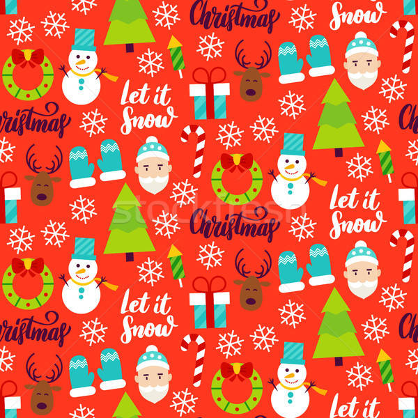 Merry Christmas Seamless Pattern Stock photo © Anna_leni