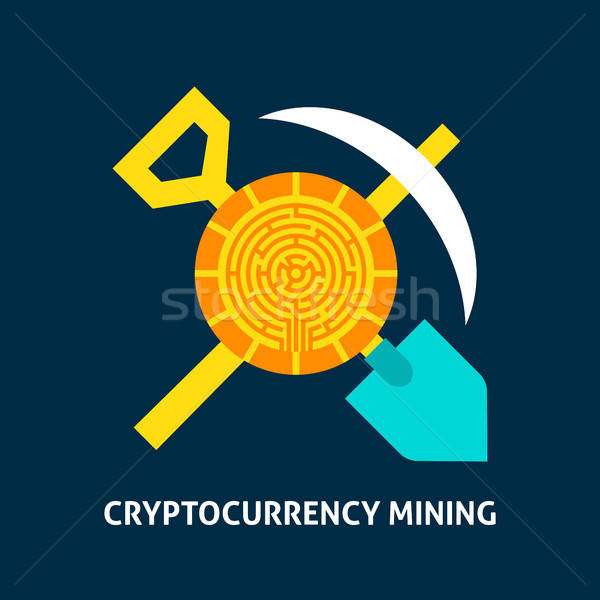 Cryptocurrency Mining Concept Stock photo © Anna_leni