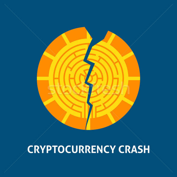 Crash Cryptocurrency Concept Stock photo © Anna_leni