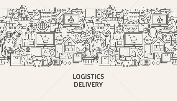 Logistiek levering banner lijn web design business Stockfoto © Anna_leni