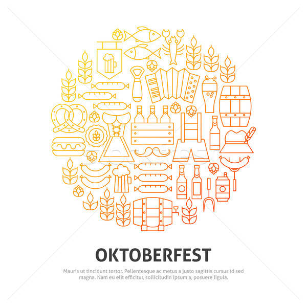Oktoberfest cercle design fête fond Photo stock © Anna_leni