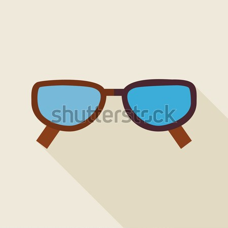 Flat Fashion Accessory Glasses Illustration with long Shadow Stock photo © Anna_leni
