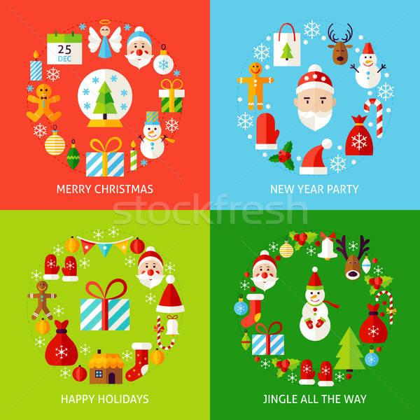 Merry Christmas Concepts Set Stock photo © Anna_leni