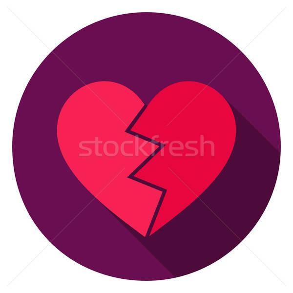 Broken Heart Circle Icon Stock photo © Anna_leni