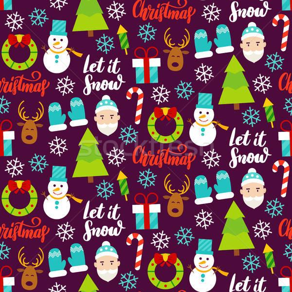 Dark Christmas Seamless Pattern Stock photo © Anna_leni