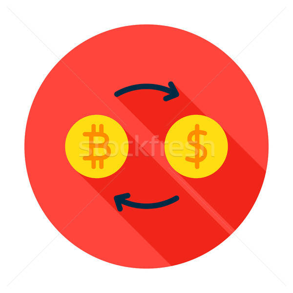 Bitcoin Exchange Circle Icon Stock photo © Anna_leni