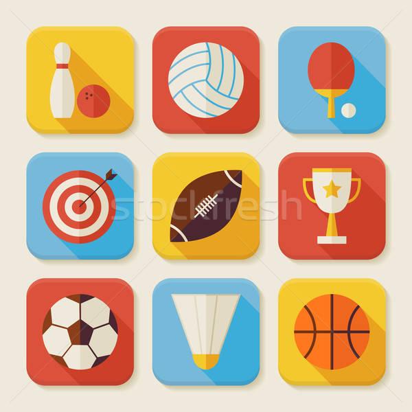スポーツ 活動 アプリ スタイル ベクトル ストックフォト © Anna_leni