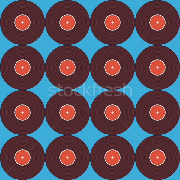 Música vinil disco azul estilo Foto stock © Anna_leni