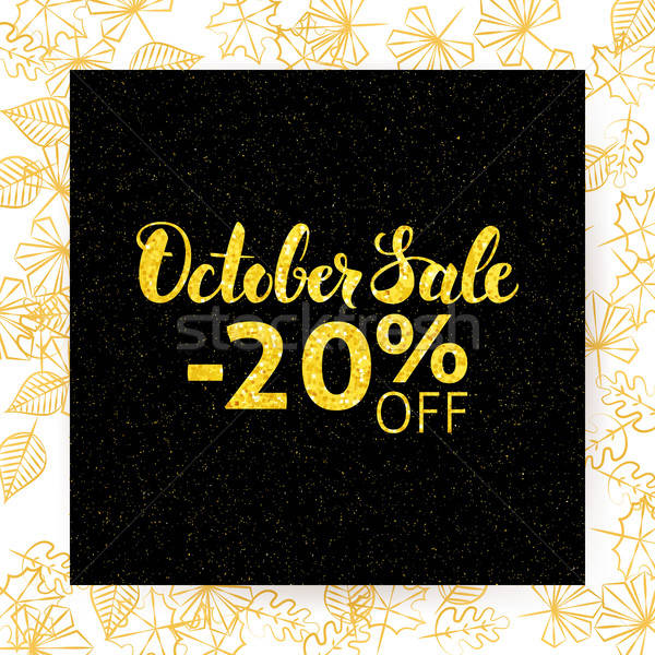 October Sale Poster Stock photo © Anna_leni
