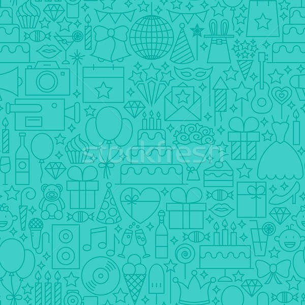 Party Mint Line Tile Pattern Stock photo © Anna_leni