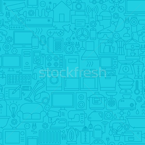 Household Blue Line Tile Pattern Stock photo © Anna_leni