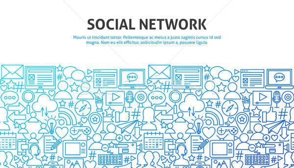 Social Network Concept Stock photo © Anna_leni