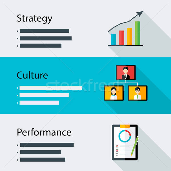 Strategy culture performance business template Stock photo © Anna_leni