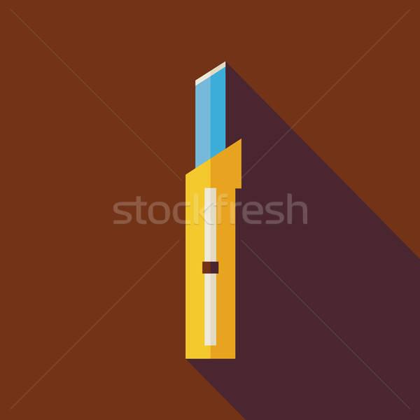 Działalności biuro materiały biurowe nóż ilustracja długo Zdjęcia stock © Anna_leni