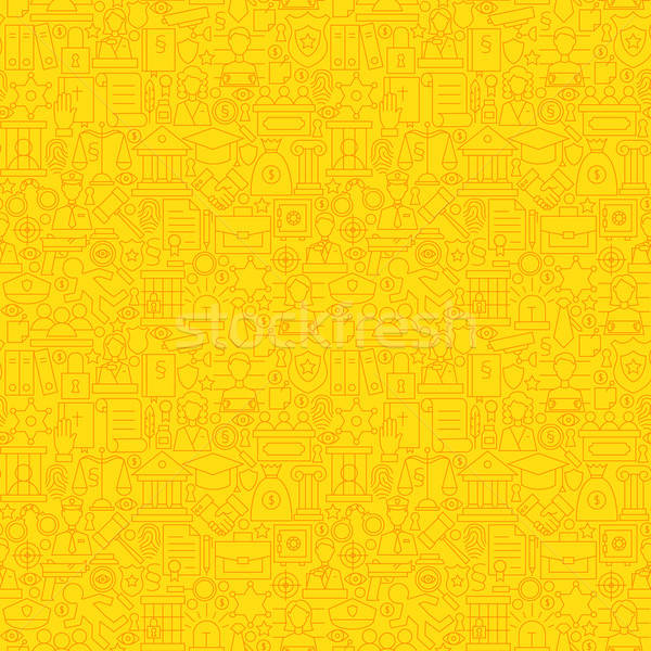 Thin Line Yellow Lawyer Justice and Crime Seamless Pattern Stock photo © Anna_leni